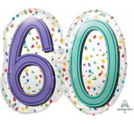 Zum 60. Geburtstag - Folienballon 60 cm groß! `Happy Birthday´ - steht auf der Rückseite!
