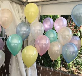 Seidenglanz Latexballons in Pastellfarben; 30 cm groß