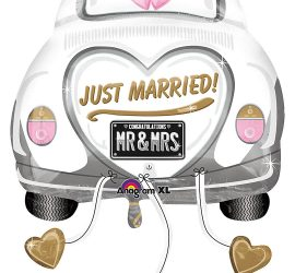 JUST MARRIED - MR & MRS - Hochzeitsauto - Folienballon 80 cm