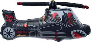 schwarzer Helikopter - Flugzeug - Folienballon 70 cm