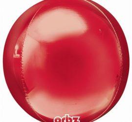 Orbz - kugelrunder Folienballon 45 cm - rot