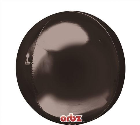 Orbz - kugelrunder Folienballon 45 cm - schwarz