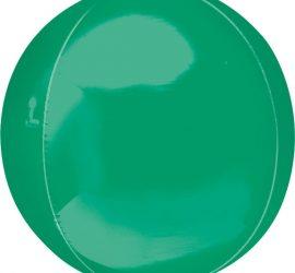 Orbz - kugelrunder Folienballon 45 cm - grün