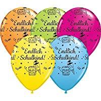 Endlich Schulkind! Zum Schulbeginn! Latexballon 30 cm in schönen bunten Farben!