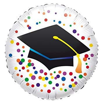 Graduate - Doktorhut - zur bestandenen Prüfung - zum Abschluss - runder Folienballon 45 cm