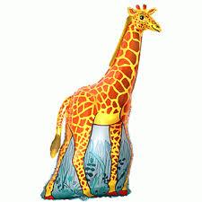 Giraffe - fliegender Folienballon 80 cm groß