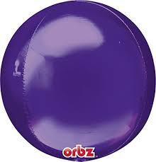 Orbz - kugelrunder Folienballon 45 cm - lila