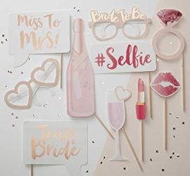 Photo Props/Photo Booth für den Polterabend - Team Bride - rosegold