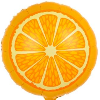 Orangenscheibe - Folienballon rund, 45 cm