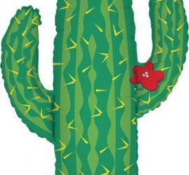 Folienballon in Form eines Kaktus - 60 cm groß!