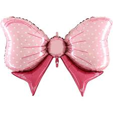 pinkfarbene Masche - Folienballon 80 cm