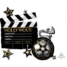 Hollywood Filmklappe - Folienballon zum Thema Hollywood